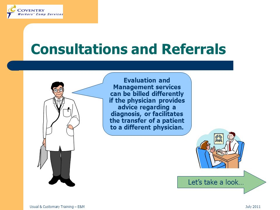 Consultations and Referrals