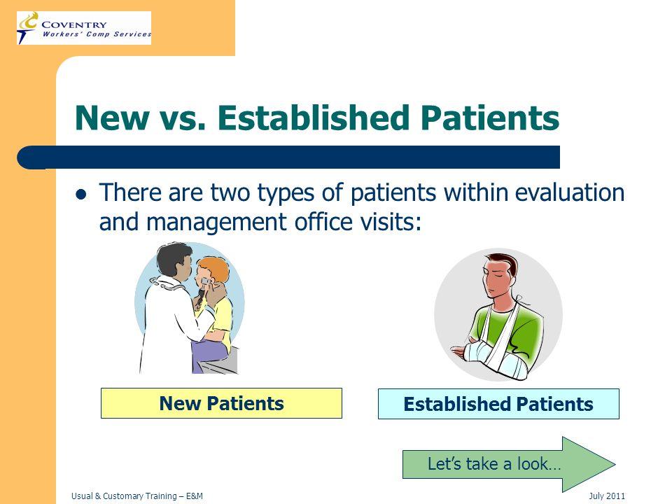 New vs. Established Patients