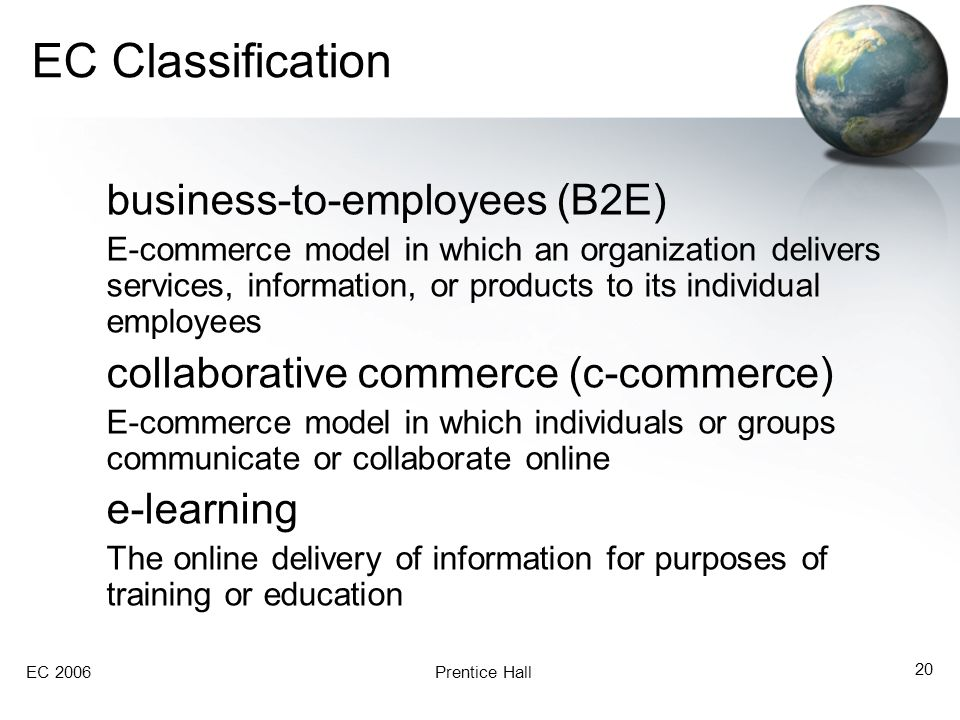 EC Classification business-to-employees (B2E)