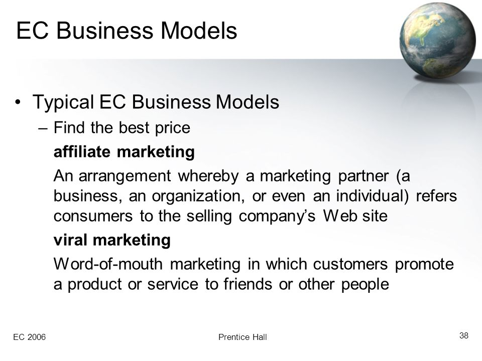 EC Business Models Typical EC Business Models Find the best price