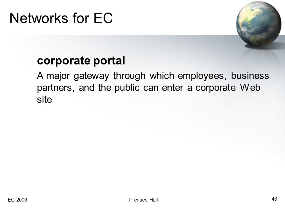 Networks for EC corporate portal