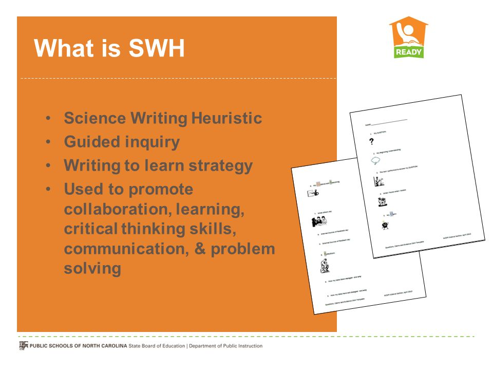 What is SWH Science Writing Heuristic Guided inquiry