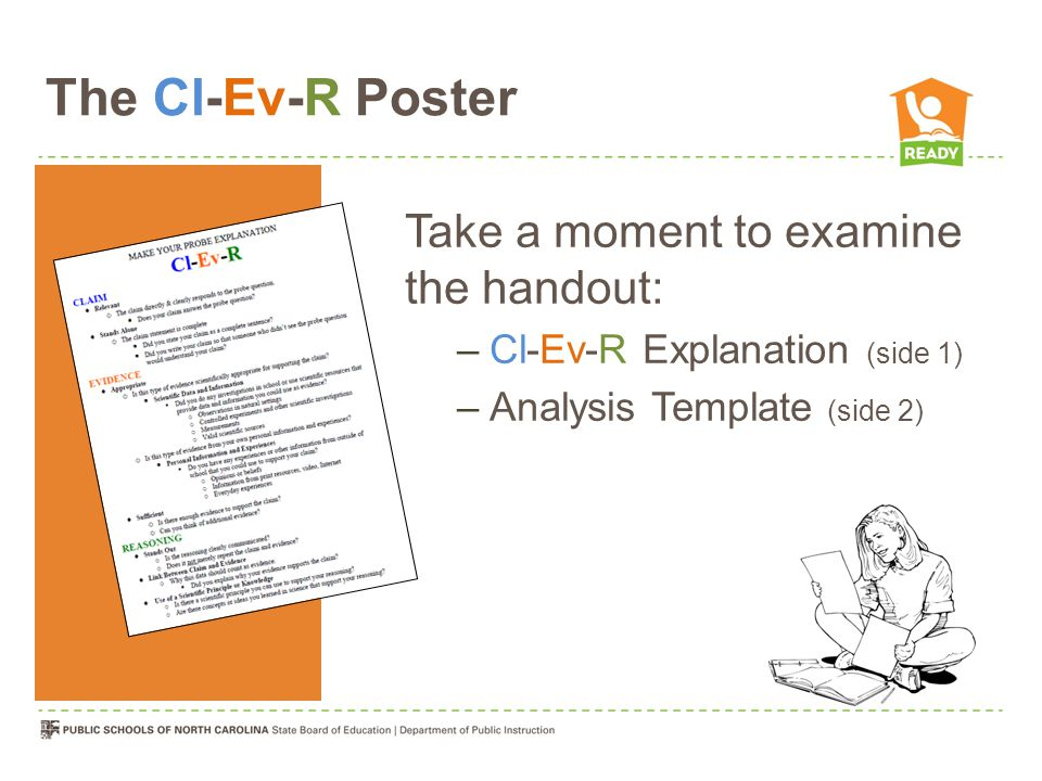 The Cl-Ev-R Poster Take a moment to examine the handout: