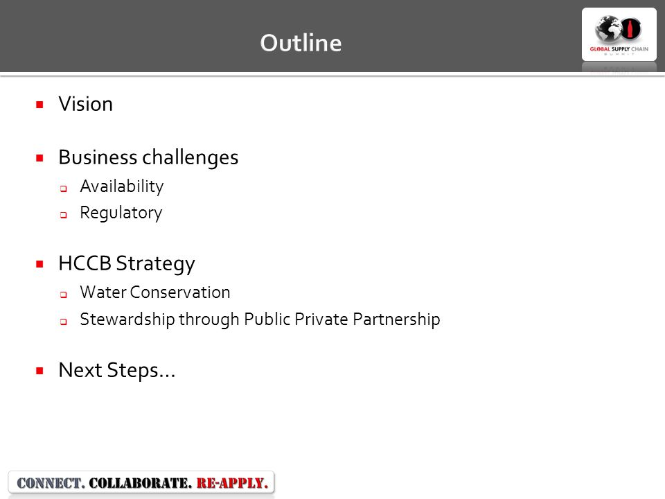 Outline Vision Business challenges HCCB Strategy Next Steps…