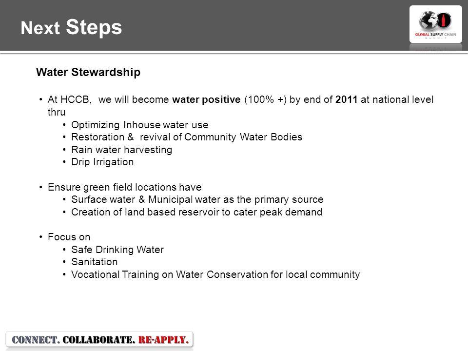Next Steps Water Stewardship