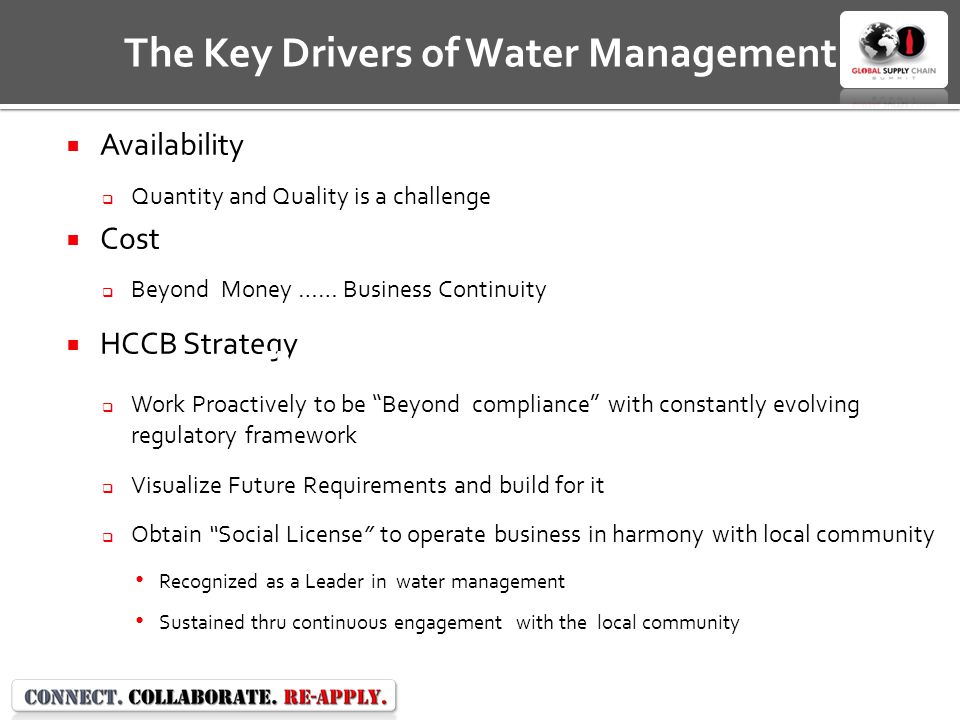 The Key Drivers of Water Management