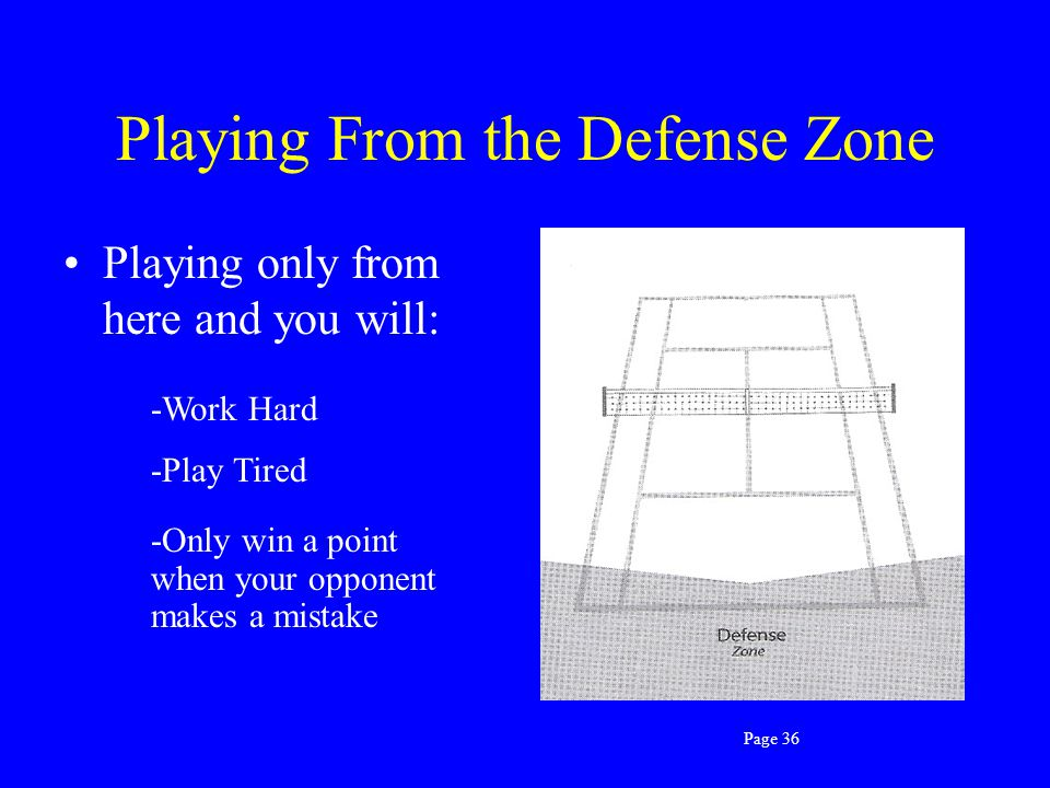 Playing From the Defense Zone