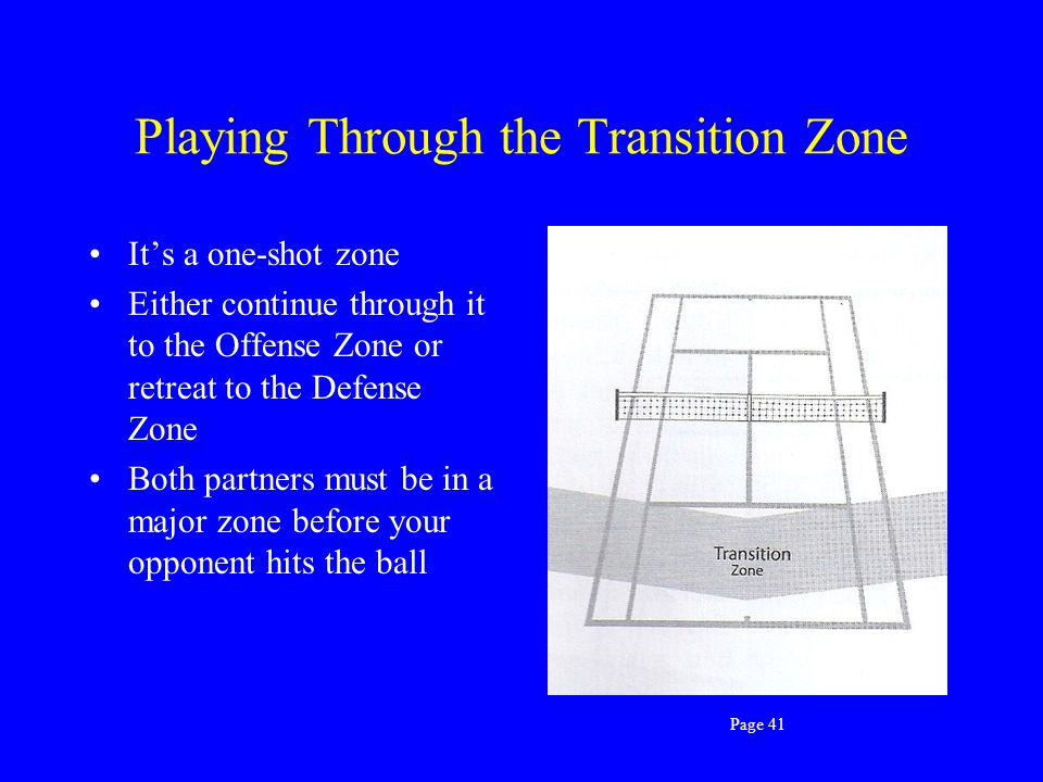Playing Through the Transition Zone
