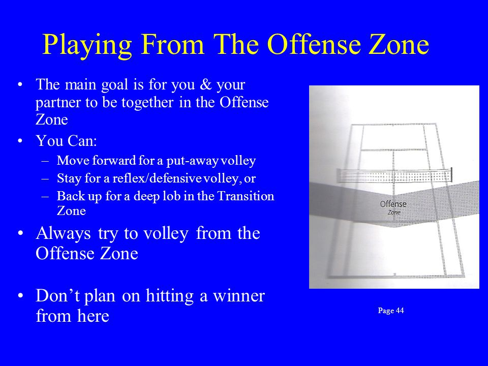 Playing From The Offense Zone