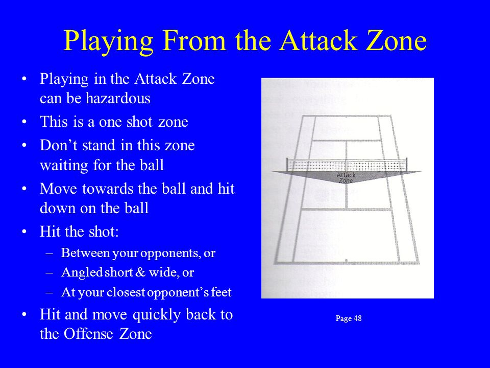 Playing From the Attack Zone