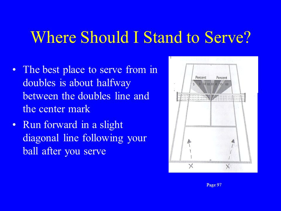 Where Should I Stand to Serve