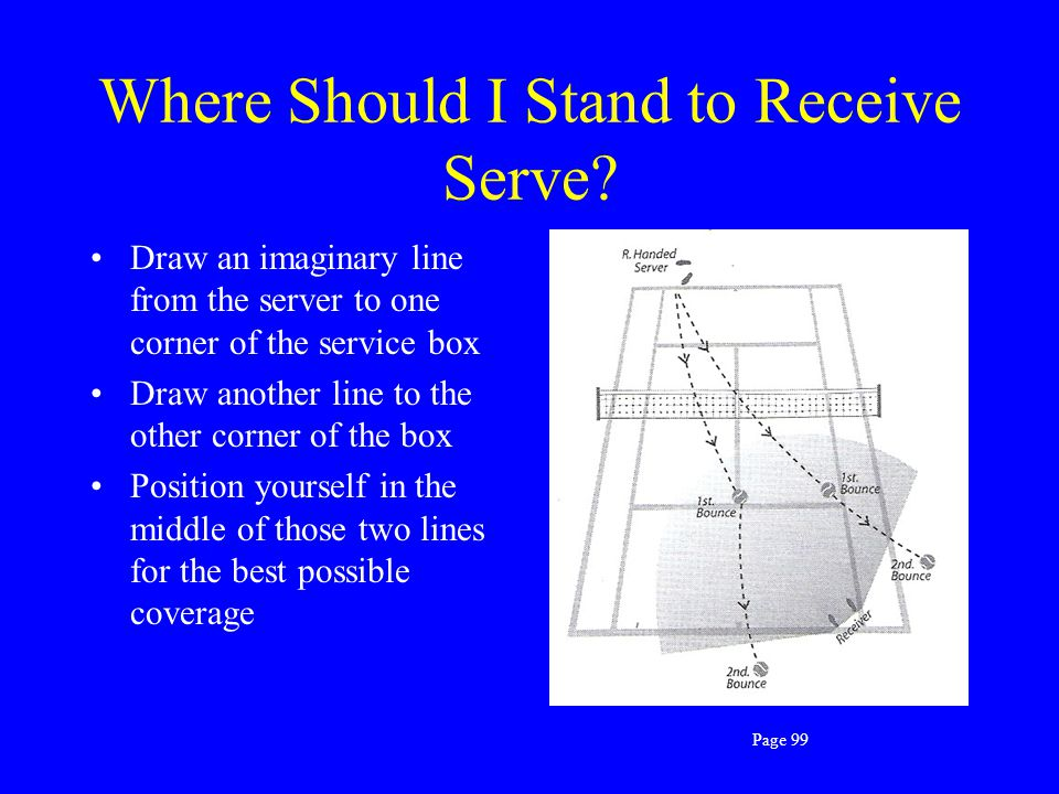 Where Should I Stand to Receive Serve