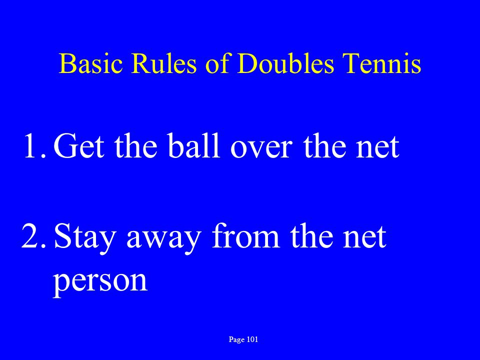 Basic Rules of Doubles Tennis