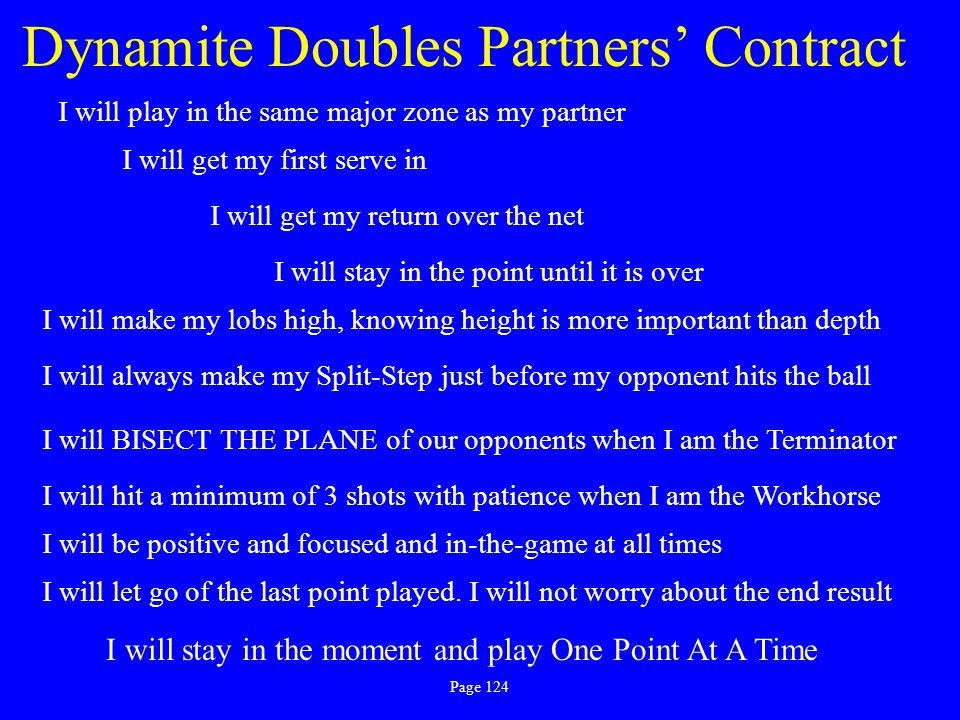 Dynamite Doubles Partners' Contract