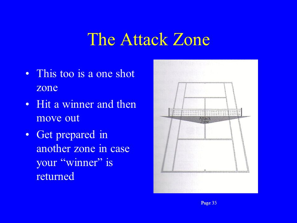 The Attack Zone This too is a one shot zone