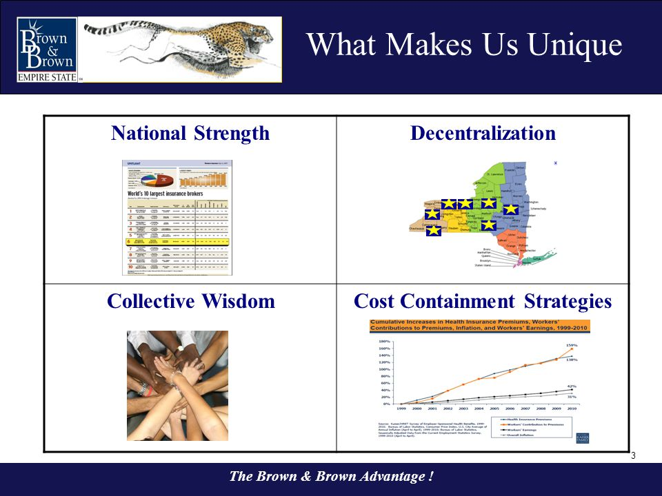 Cost Containment Strategies The Brown & Brown Advantage !