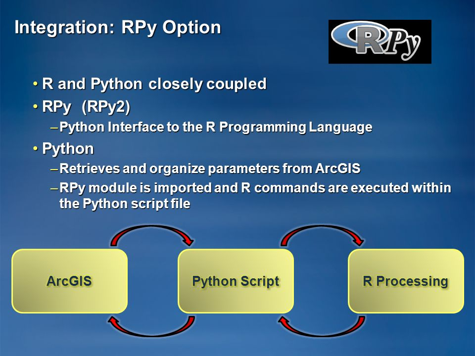 Integration: RPy Option