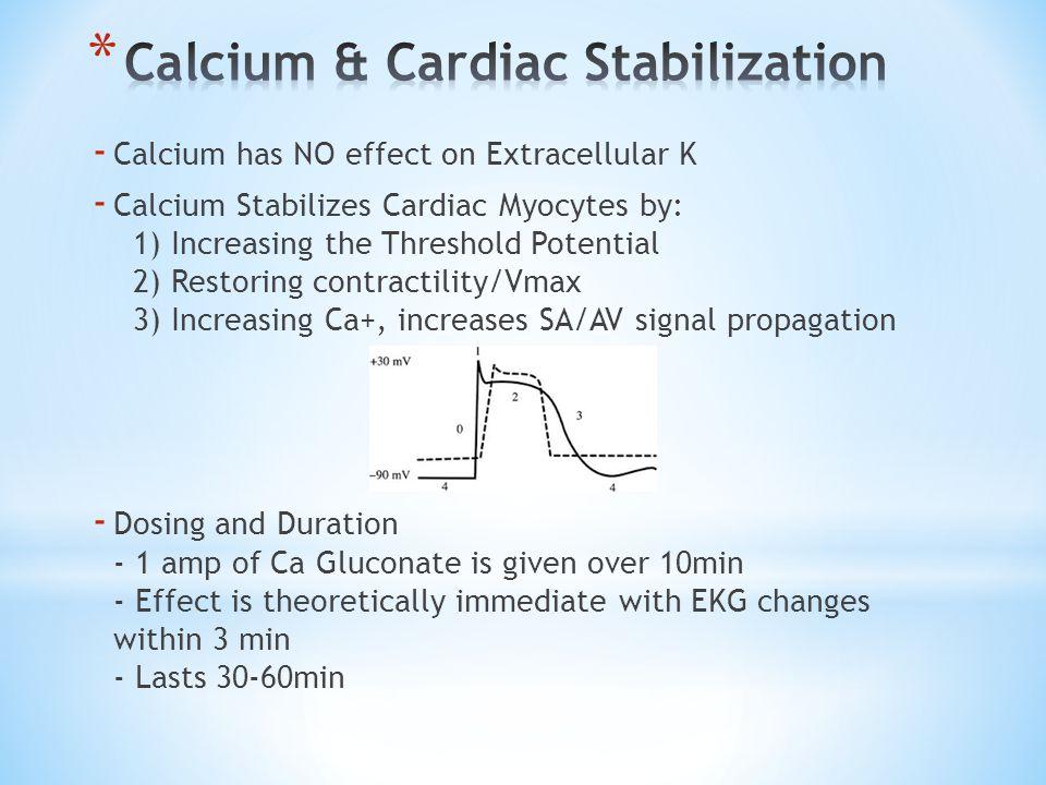 Calcium & Cardiac Stabilization