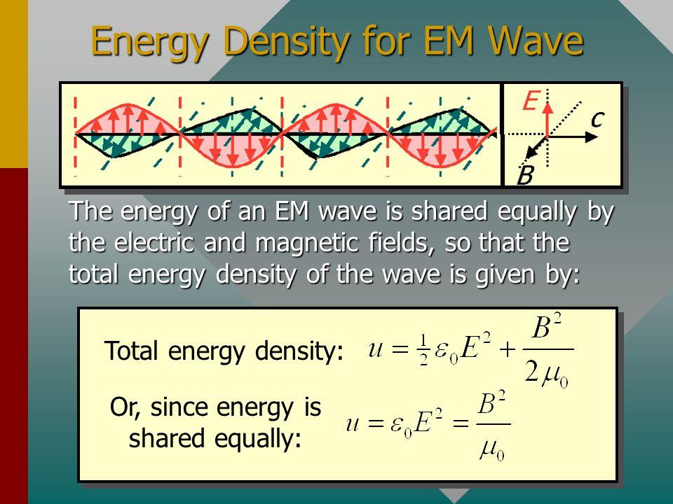 Energy Density for EM Wave