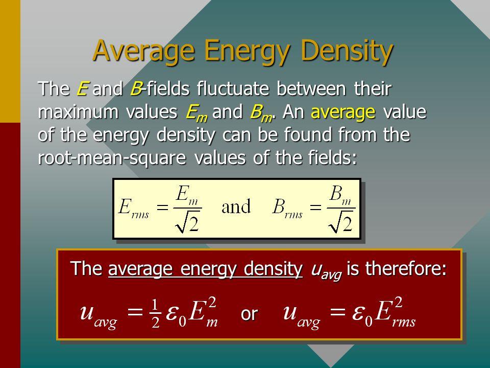 Average Energy Density