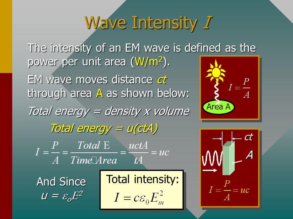 Total energy = density x volume