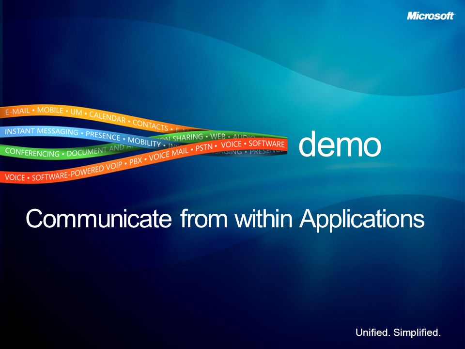 Communicate from within Applications