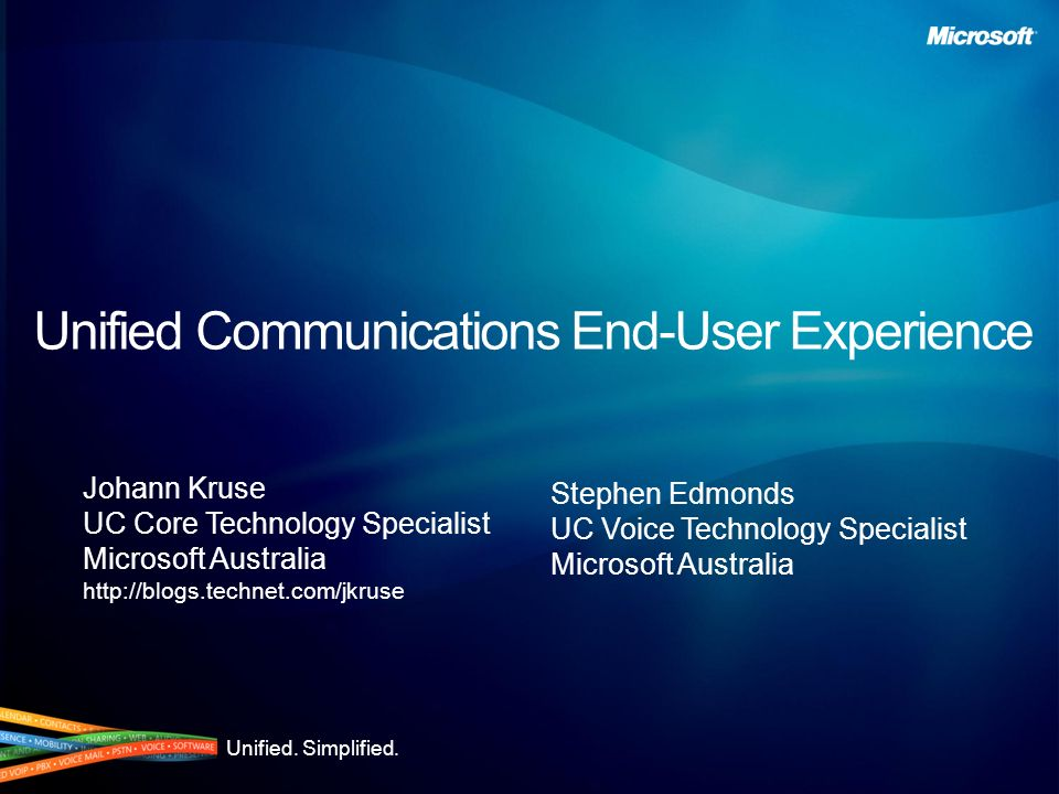 Unified Communications End-User Experience