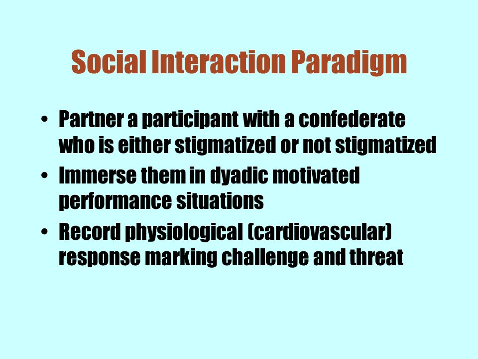 Social Interaction Paradigm