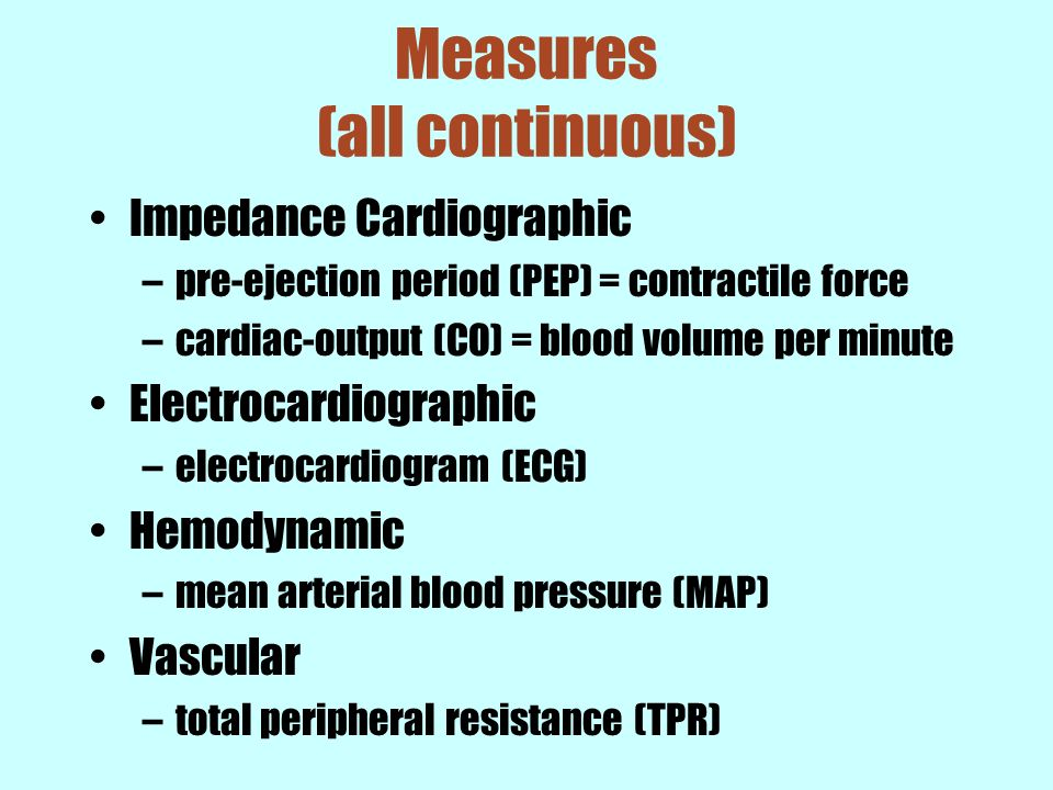 Measures (all continuous)