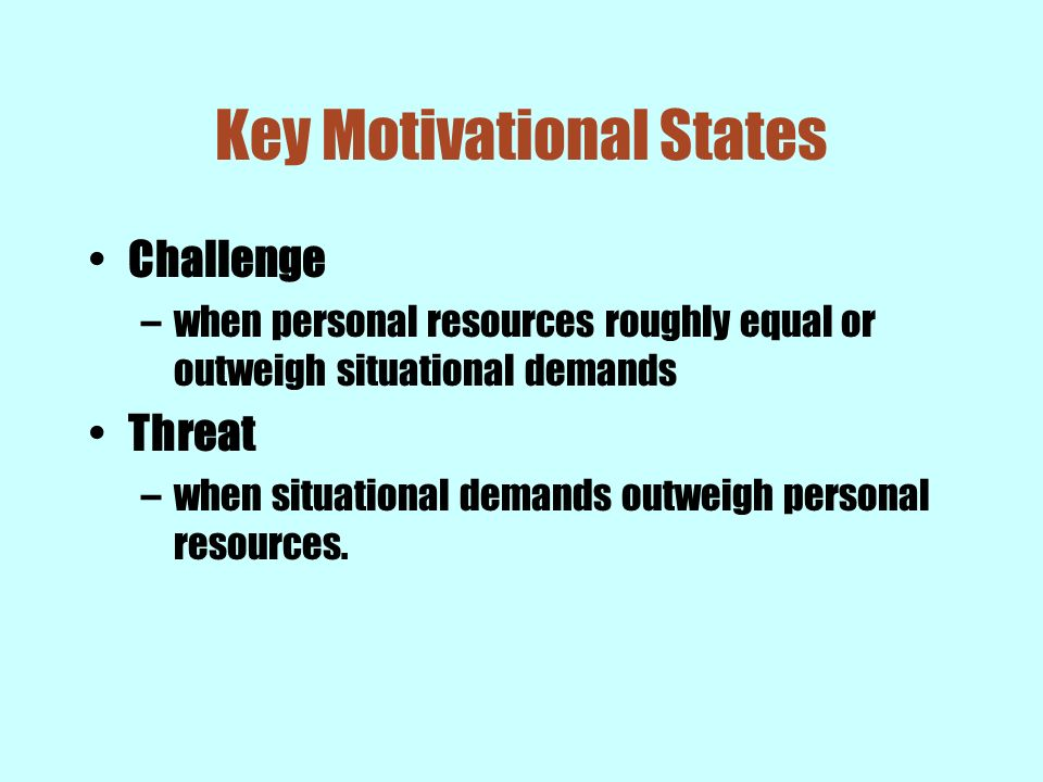 Key Motivational States
