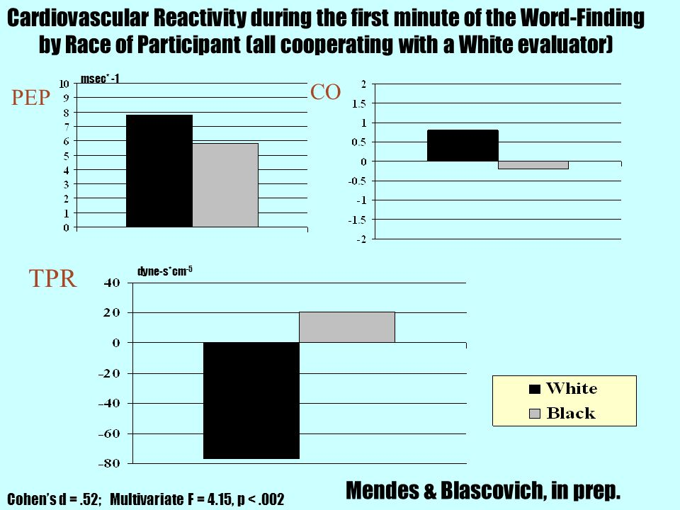 Cardiovascular Reactivity during the first minute of the Word-Finding