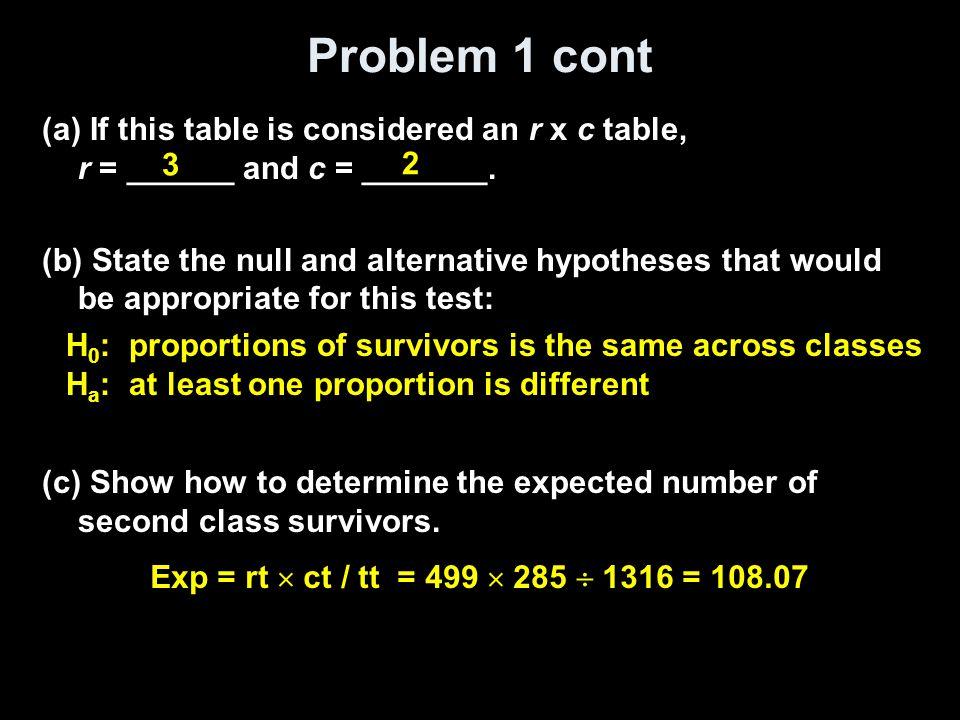 Problem 1 cont