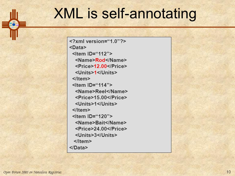 XML is self-annotating