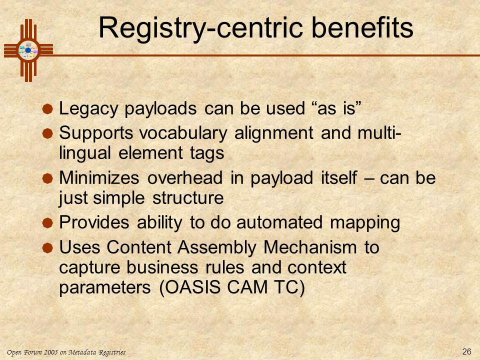 Registry-centric benefits