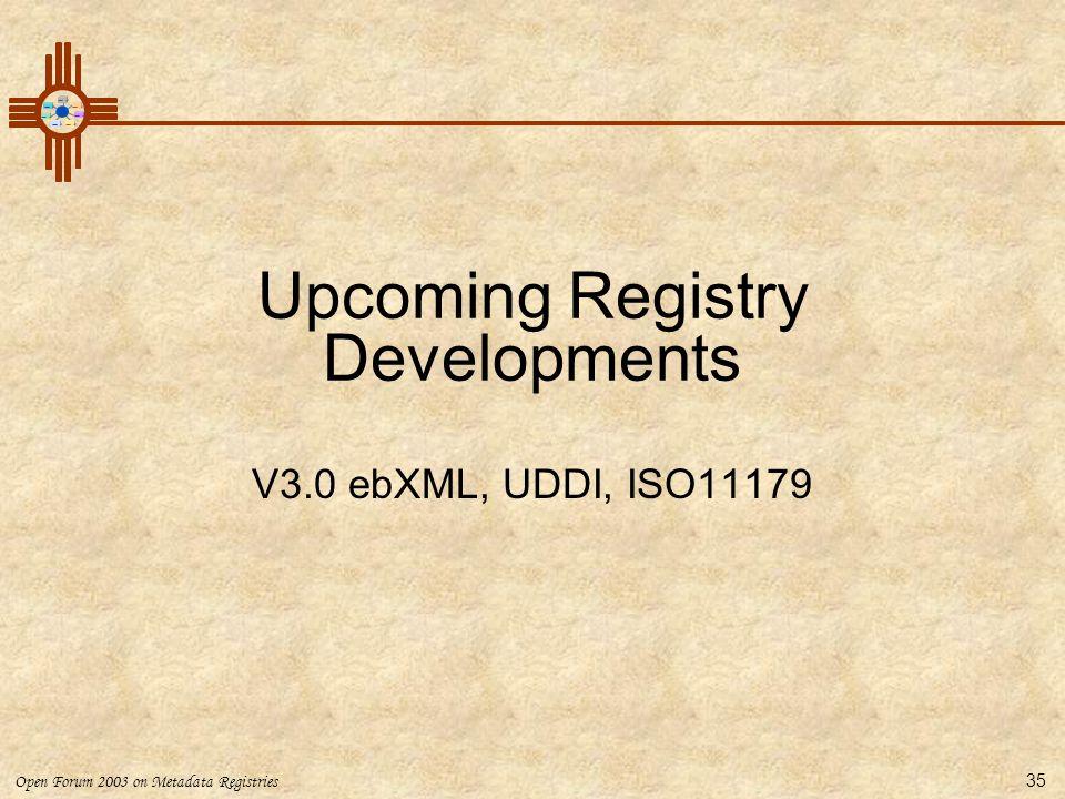Upcoming Registry Developments
