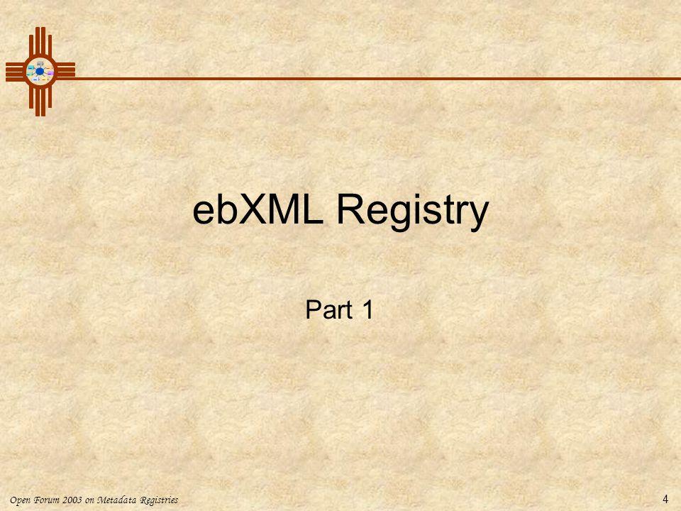 ebXML Registry Part 1