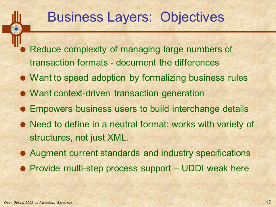 Business Layers: Objectives