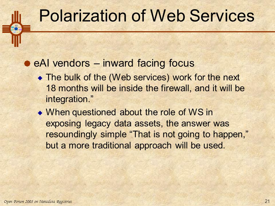 Polarization of Web Services