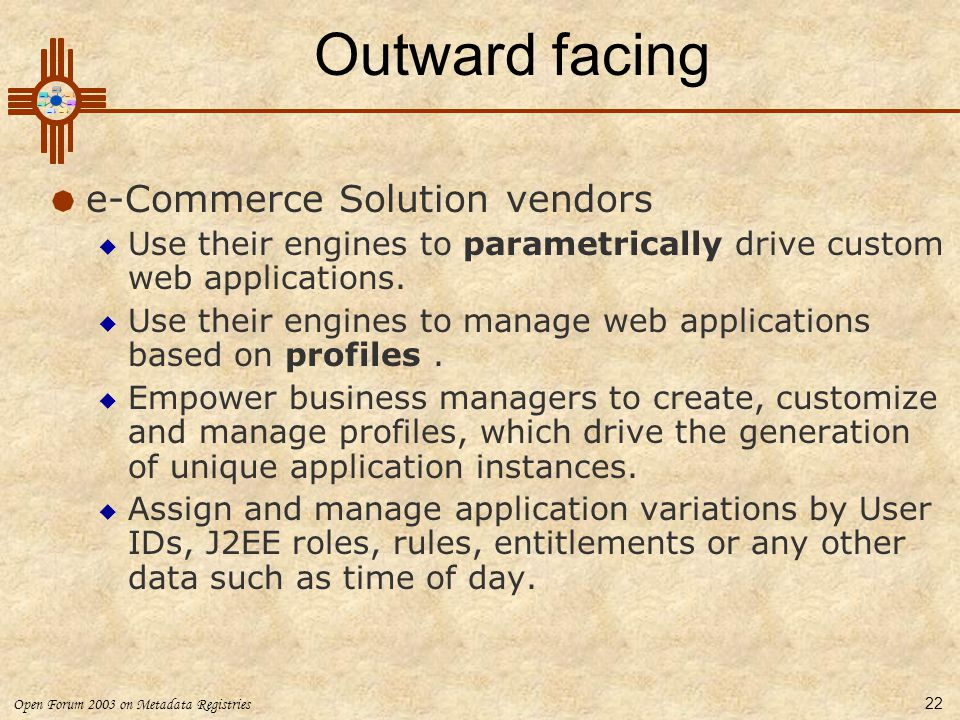 Outward facing e-Commerce Solution vendors