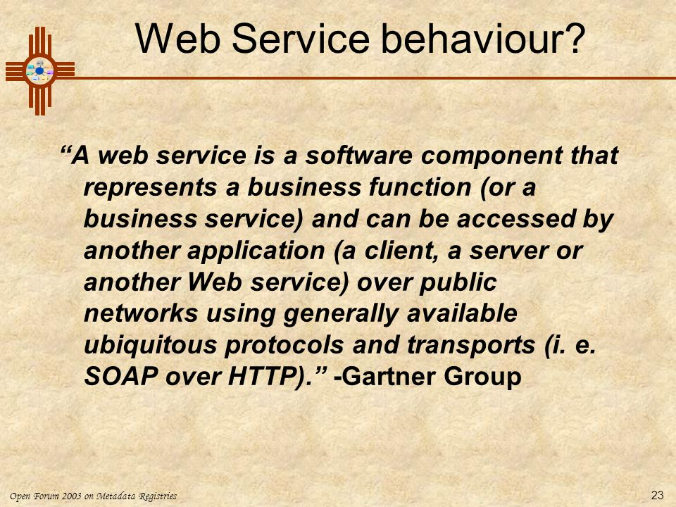 Web Service behaviour