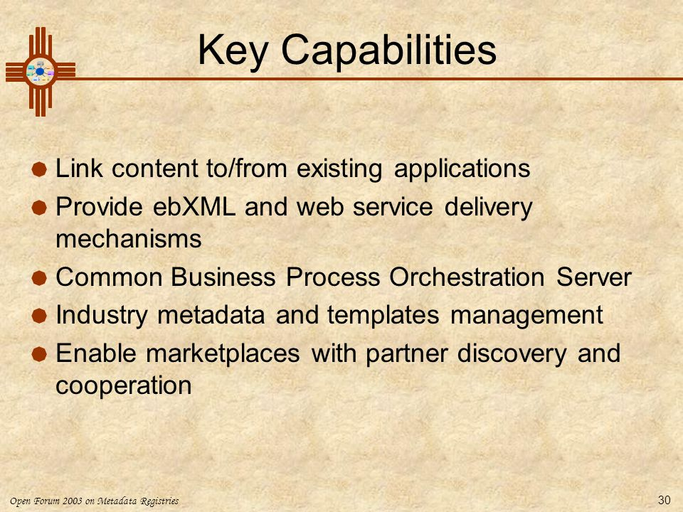 Key Capabilities Link content to/from existing applications
