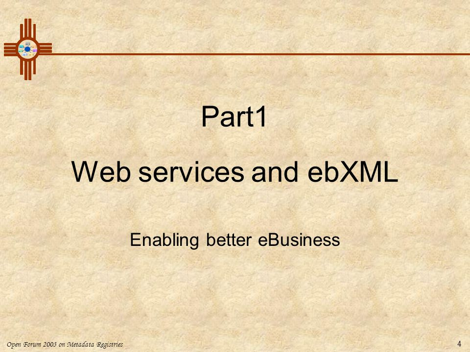 Part1 Web services and ebXML