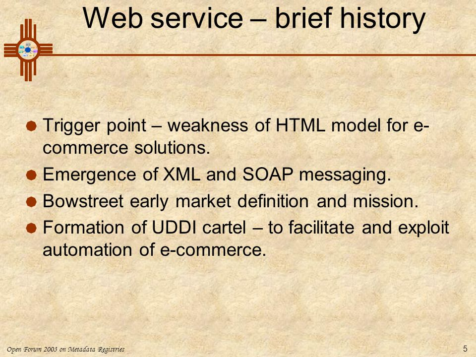 Web service – brief history