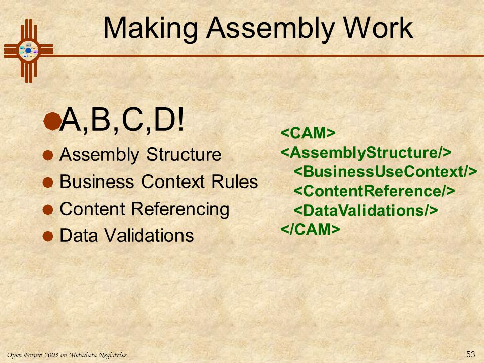 A,B,C,D! Making Assembly Work Assembly Structure