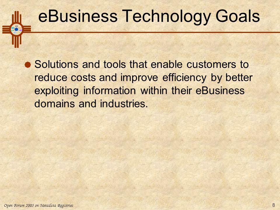 eBusiness Technology Goals
