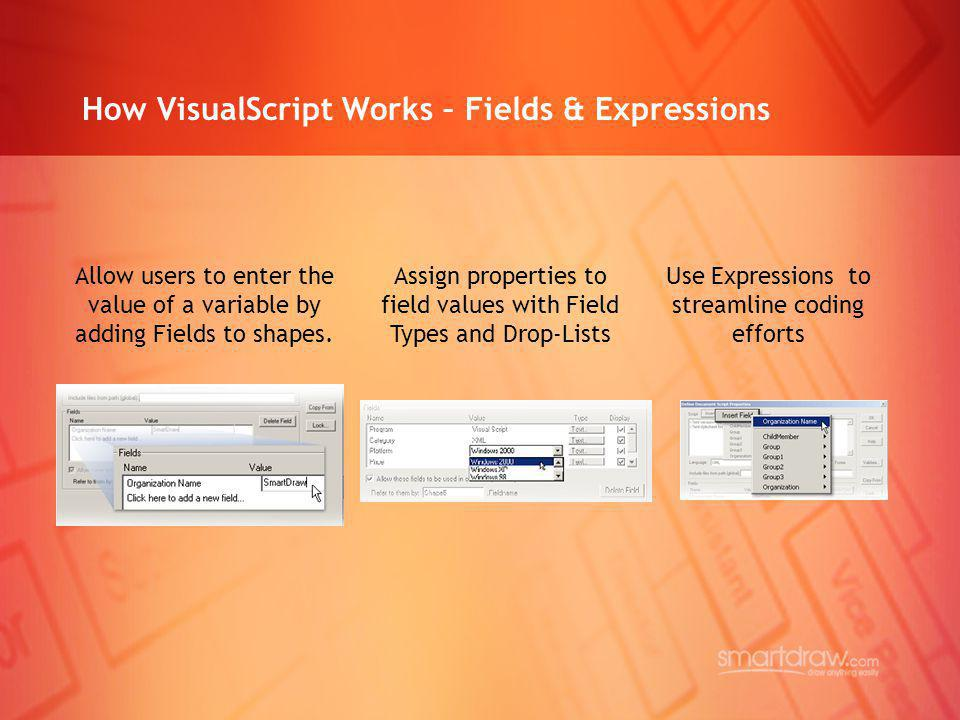 How VisualScript Works – Fields & Expressions