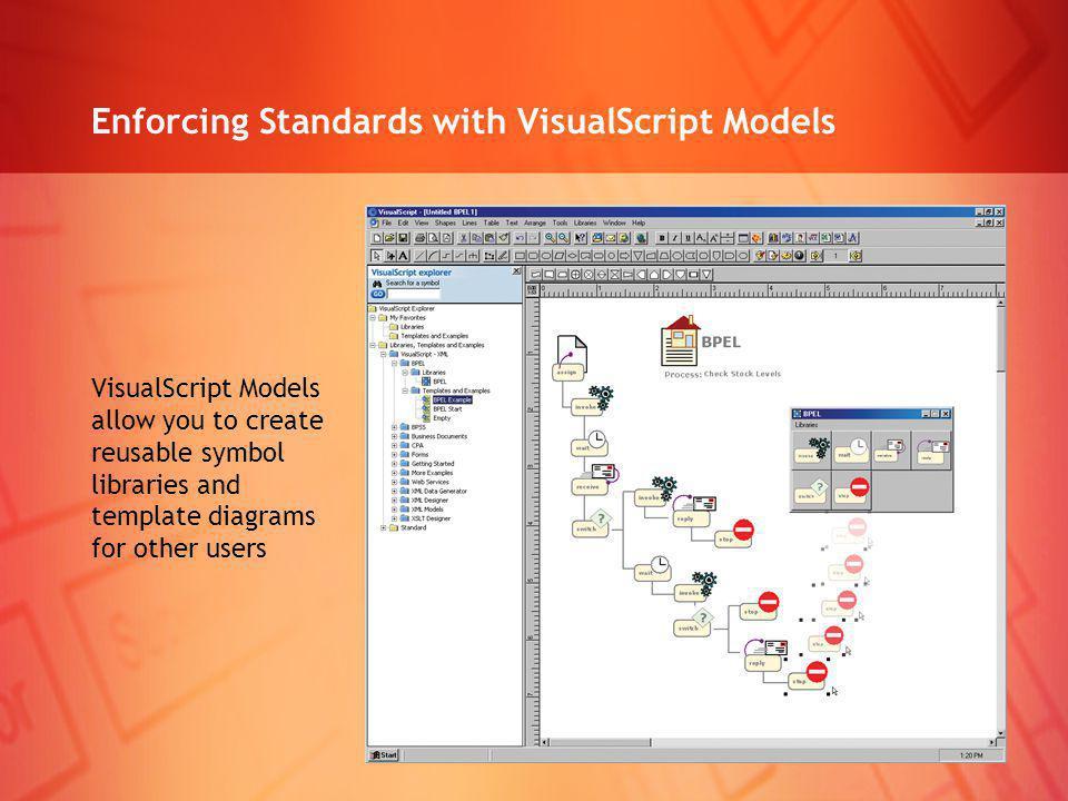 Enforcing Standards with VisualScript Models