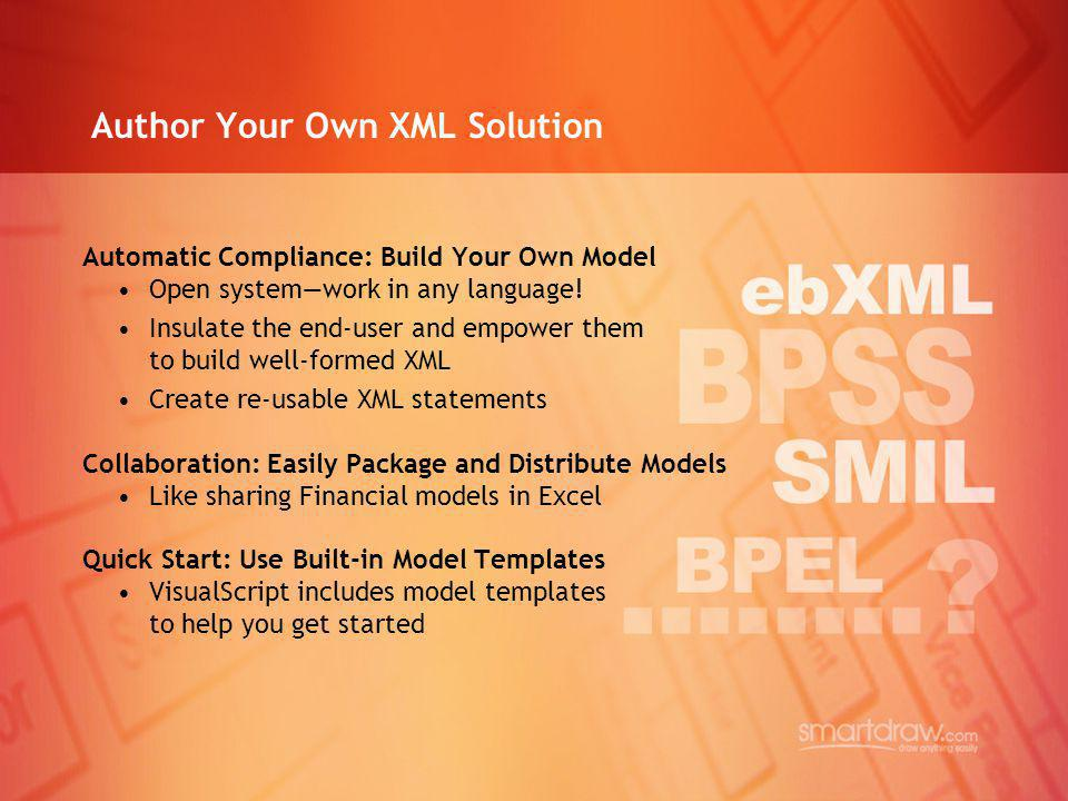 Author Your Own XML Solution