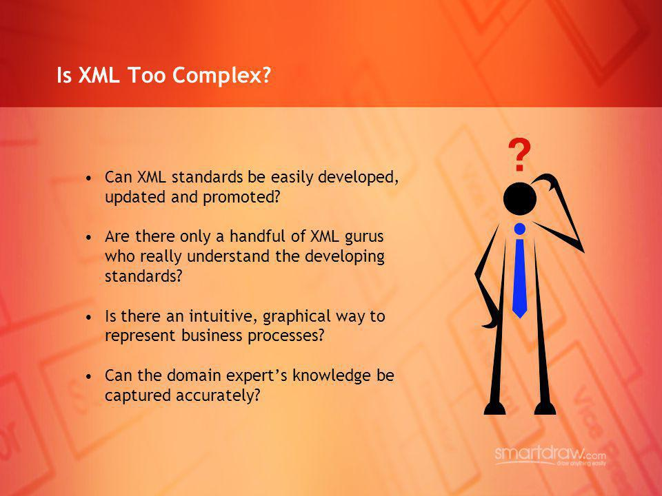 Is XML Too Complex Can XML standards be easily developed, updated and promoted