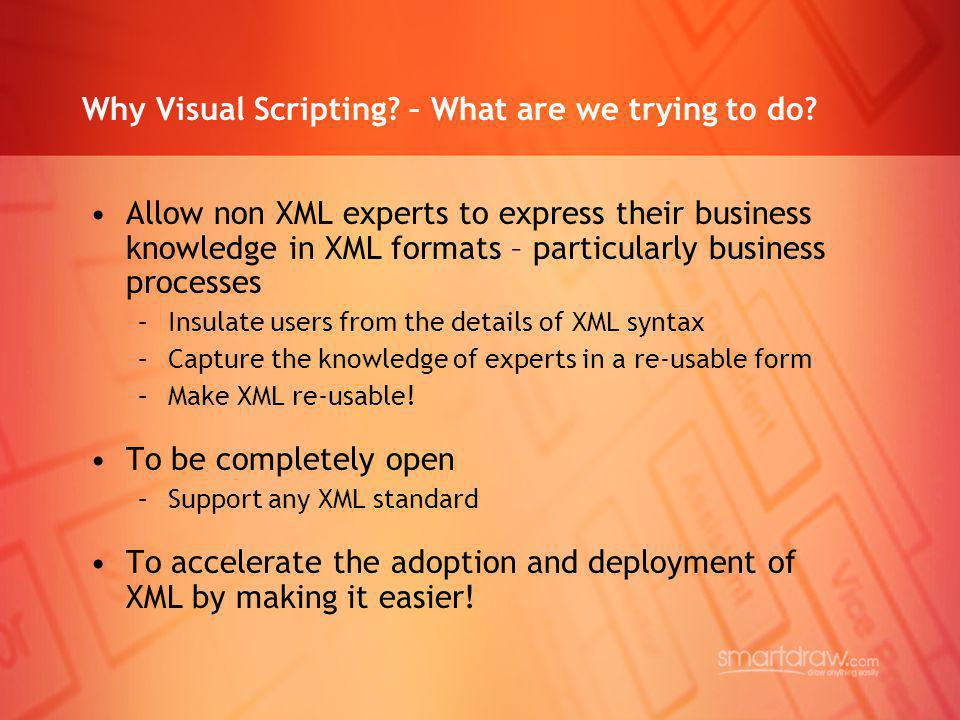 Why Visual Scripting – What are we trying to do